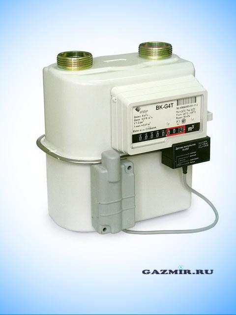 Газовый счетчик ЭЛЬСТЕР ВК G-4Т V1.2 (левый c термокоррекцией) . Город Челябинск. Цена 3800 руб