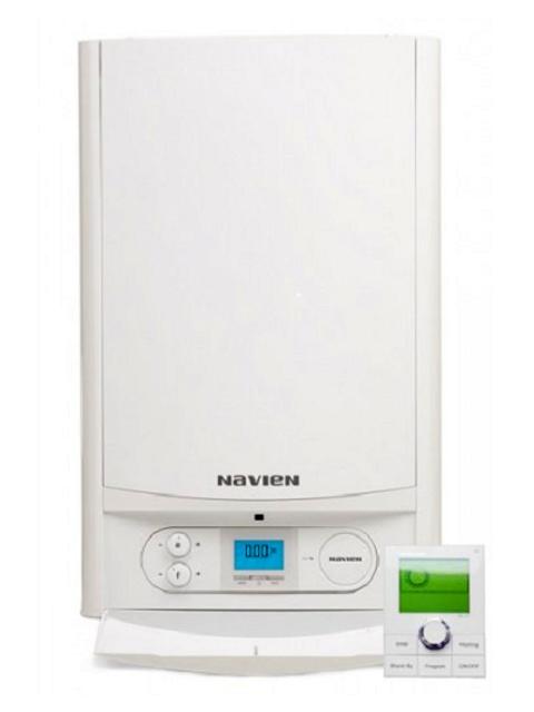 Купить Газовый конденсационный котел настенный Навьен Navien NCN-40K White, 40 кВт, закрытая камера, двухконтурный в Костанай