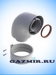Купить Коаксиальный отвод 90  60/100 в Челябинск