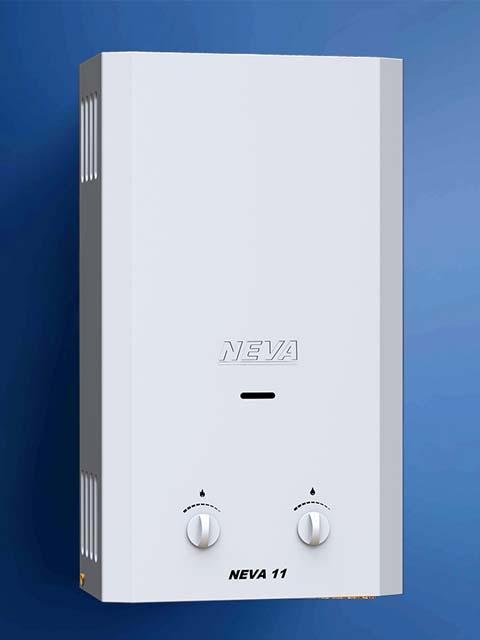 Купить Газовая колонка NEVA 11, 11 л/мин, дымоход 107 мм, вода/газ 1/2 дюйма в Кунашак