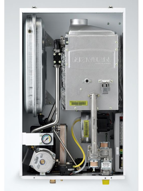 Газовый котел настенный Навьен Navien Deluxe-30k COAXIAL White, 30 кВт, закрытая камера, двухконтурный. Город Челябинск. Цена 33500 руб