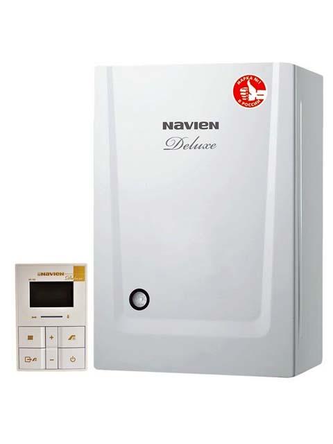 Купить Газовый котел настенный Навьен Navien Deluxe-16k COAXIAL White, 16 кВт, закрытая камера, двухконтурный в Челябинск