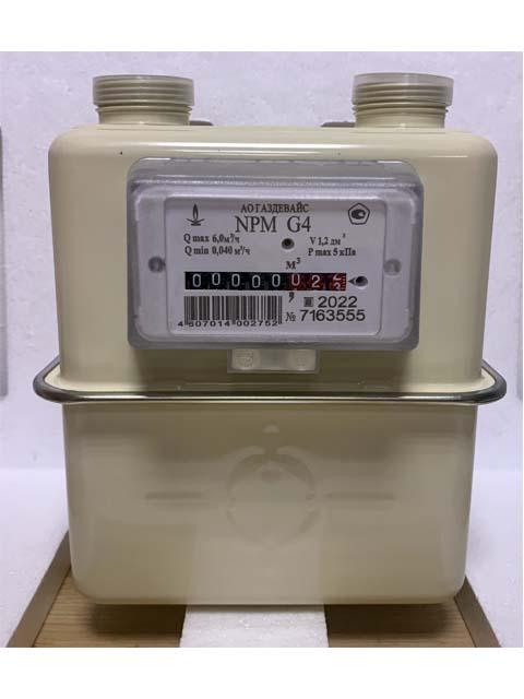 Купить Газовый счетчик ГАЗДЕВАЙС NPM G-4 (левый) с фильтром в Челябинск