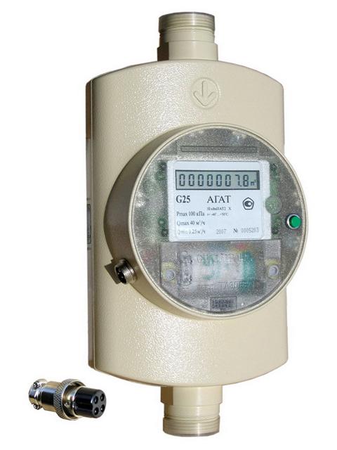 Газовый счетчик АГАТ G25 с автоматической температурной компенсацией. Город Челябинск. Цена 17500 руб