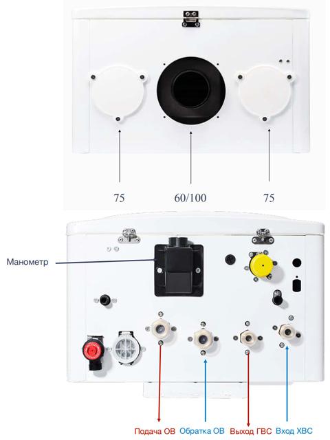 Газовый котел настенный Навьен Navien Deluxe-35k Comfort COAXIAL White, 35 кВт, закрытая камера, двухконтурный. Город Челябинск. Цена 40600 руб