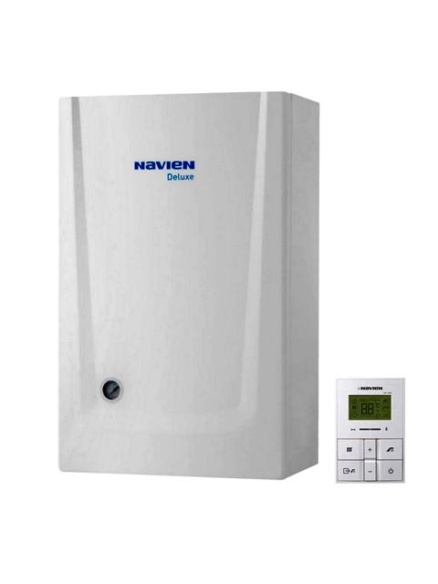 Купить Газовый котел настенный Навьен Navien Deluxe-13 ATMO White, 13 кВт, открытая камера, двухконтурный в Костанай