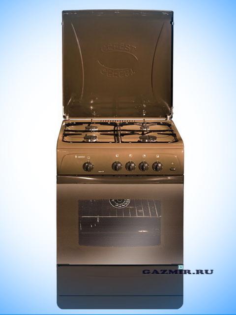 Плита газовая ПГ-4 Гефест 1200-С7 К19, Беларусь, коричневая, 60х60 см, крышка металл, 4 газ конфорки, эмаль, газовая духовка, подсветка, откидная дверца, термометр. Город Челябинск. Цена по запросу