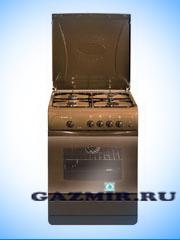 Купить Плита газовая ПГ-4 Гефест 1200-С7 К19, Беларусь, коричневая, 60х60 см, крышка металл, 4 газ конфорки, эмаль, газовая духовка, подсветка, откидная дверца, термометр в Челябинск