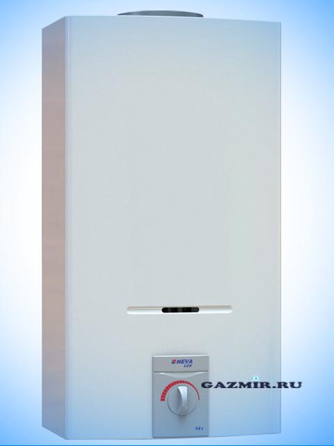 Газовая колонка НЕВА ЛЮКС 5514 ( NEVALUX-5514 ), 14 л/мин, дымоход 140 мм, вода/газ 1/2 дюйма. Город Костанай. Цена 11250 руб