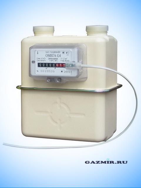 Газовый счетчик ГАЗДЕВАЙС Омега G-4 (правый с термокорректором). Город Челябинск. Цена по запросу
