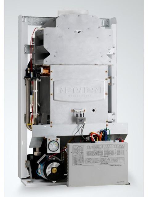Газовый котел настенный Навьен Navien Deluxe-24 ATMO White, 24 кВт, открытая камера, двухконтурный. Город Челябинск. Цена 27000 руб