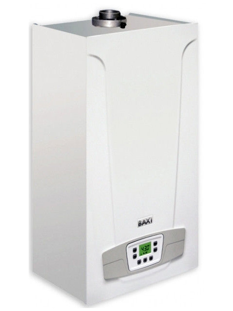 Купить Газовый котел настенный BAXI (БАКСИ) ECO4s 24F TURBO, 24 кВт, закрытая камера, двухконтурный, Италия  в Костанай