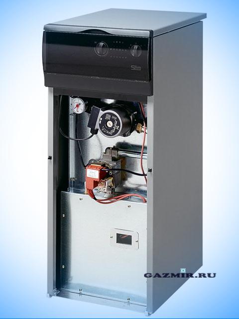 Газовый котел напольный BAXI SLIM1.490in с дымовым колпаком диаметром 160 мм. Город Челябинск. Цена 104200 руб