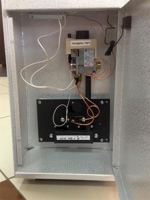 Газовый котел напольный КАРАКАН 12ЭГВ 3, до 120 кв.м, отопление, горячая вода, автоматика SIT, пьезорозжиг, дымоход 120 мм. Город Челябинск. Цена по запросу