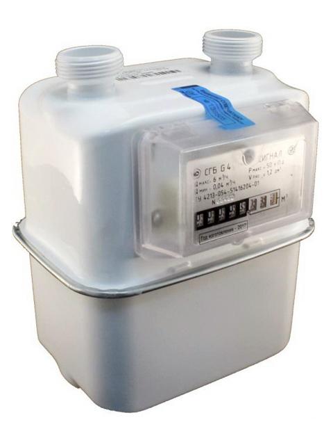 Купить Газовый счетчик СИГНАЛ СГБ G-4 правый верхн.подключение M33*1.5 в Челябинск