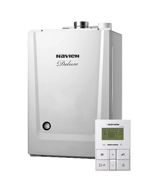 Купить Газовый котел настенный Навьен Navien Deluxe-35К, 35 кВт, закрытая камера, двухконтурный, дымоход Korea type в Костанай