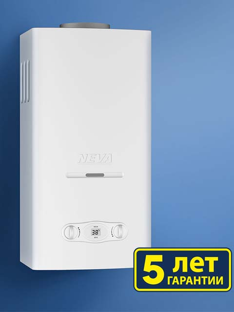 Купить Газовая колонка НЕВА 4510 ( NEVA-4510 ), 10 л/мин, дымоход 120 мм, вода/газ 1/2 дюйма в Челябинск