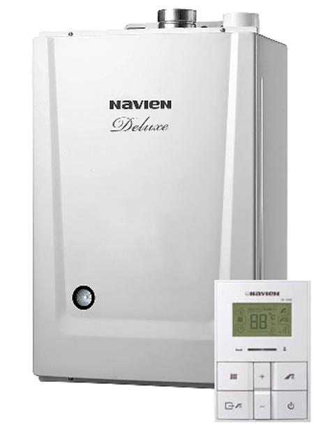 Газовый котел настенный Навьен Navien Deluxe-40К, 40 кВт, закрытая камера, двухконтурный, дымоход Korea type. Город Челябинск. Цена 34300 руб