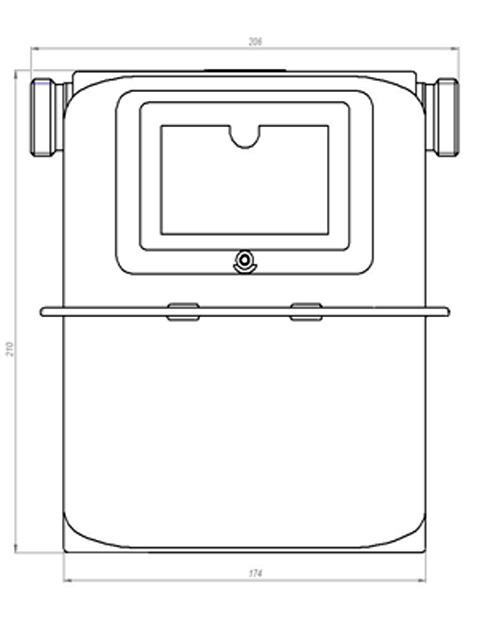 Газовый счетчик СИГНАЛ СГБ-G4-1 боковой лев. М33*1,5. Город Челябинск. Цена 3650 руб