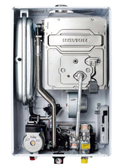 Газовый котел настенный Навьен Navien Deluxe-24k Comfort COAXIAL White, 24 кВт, закрытая камера, двухконтурный. Город Челябинск. Цена 29100 руб