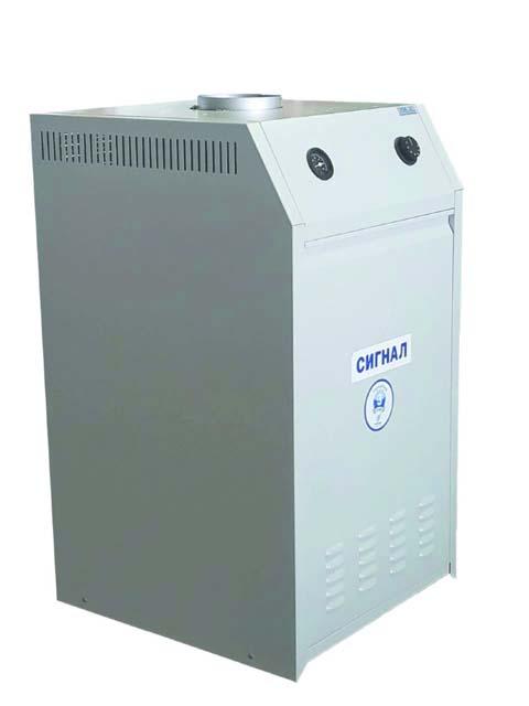 Купить Газовый котел напольный Сигнал КОВ-80 СТн, до 800 кв.м, автоматика Honeywell, пьезорозжиг, дымоход 220 мм в Челябинск