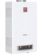 Купить Газовая колонка ЛЕМАКС ЕВРО 24, 12 л/мин, дымоход 110 мм, вода/газ 1/2 дюйма, розжиг от батареек/электросети в Челябинск
