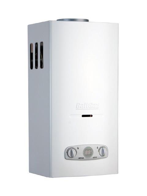 Купить Газовая колонка НЕВА 4511 ( NEVA-4511 ), 11 л/мин, дымоход 122 мм, вода/газ 1/2 дюйма в Челябинск
