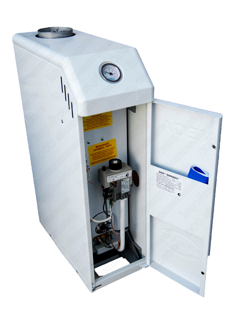 Газовый напольный котел Мимакс VEGA КСГ-7, до 70 кв.м, автоматика SIT, пьезорозжиг, дымоход 120 мм, компактные размеры котла. Город Челябинск. Цена по запросу