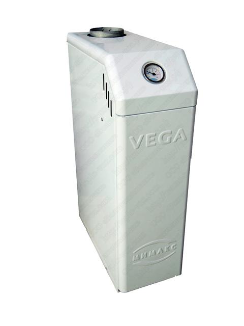 Купить Газовый напольный котел Мимакс VEGA КСГ-7, до 70 кв.м, автоматика SIT, пьезорозжиг, дымоход 120 мм, компактные размеры котла в Челябинск