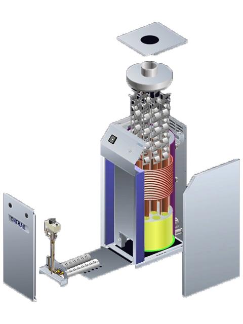 Газовый котел напольный Сигнал КОВ-50 СТ1пс, до 500 кв.м, автоматика SIT-820, пьезорозжиг, дымоход 150 мм. Город Костанай. Цена 36300 руб