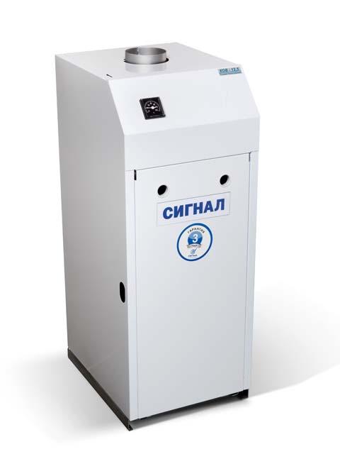 Купить Газовый котел напольный Сигнал КОВ-50 СТ1пс, до 500 кв.м, автоматика SIT-820, пьезорозжиг, дымоход 150 мм в Челябинск