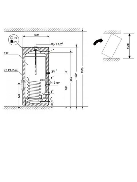 Бойлер BOSCH WSTB 300C косвенного нагрева, напольный, 300 литров. Город Челябинск. Цена 56000 руб