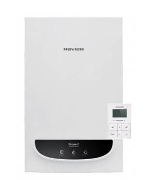 Купить Газовый котел настенный Навьен Navien Deluxe-13k Comfort COAXIAL White, 13 кВт, закрытая камера, двухконтурный в Костанай