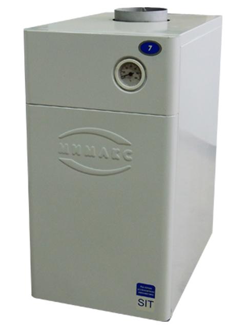 Газовый напольный котел Мимакс КСГ-12.5, до 125 кв.м, автоматика АГУ-Т-М, ручной розжиг, дымоход 120 мм. Город Челябинск. Цена по запросу